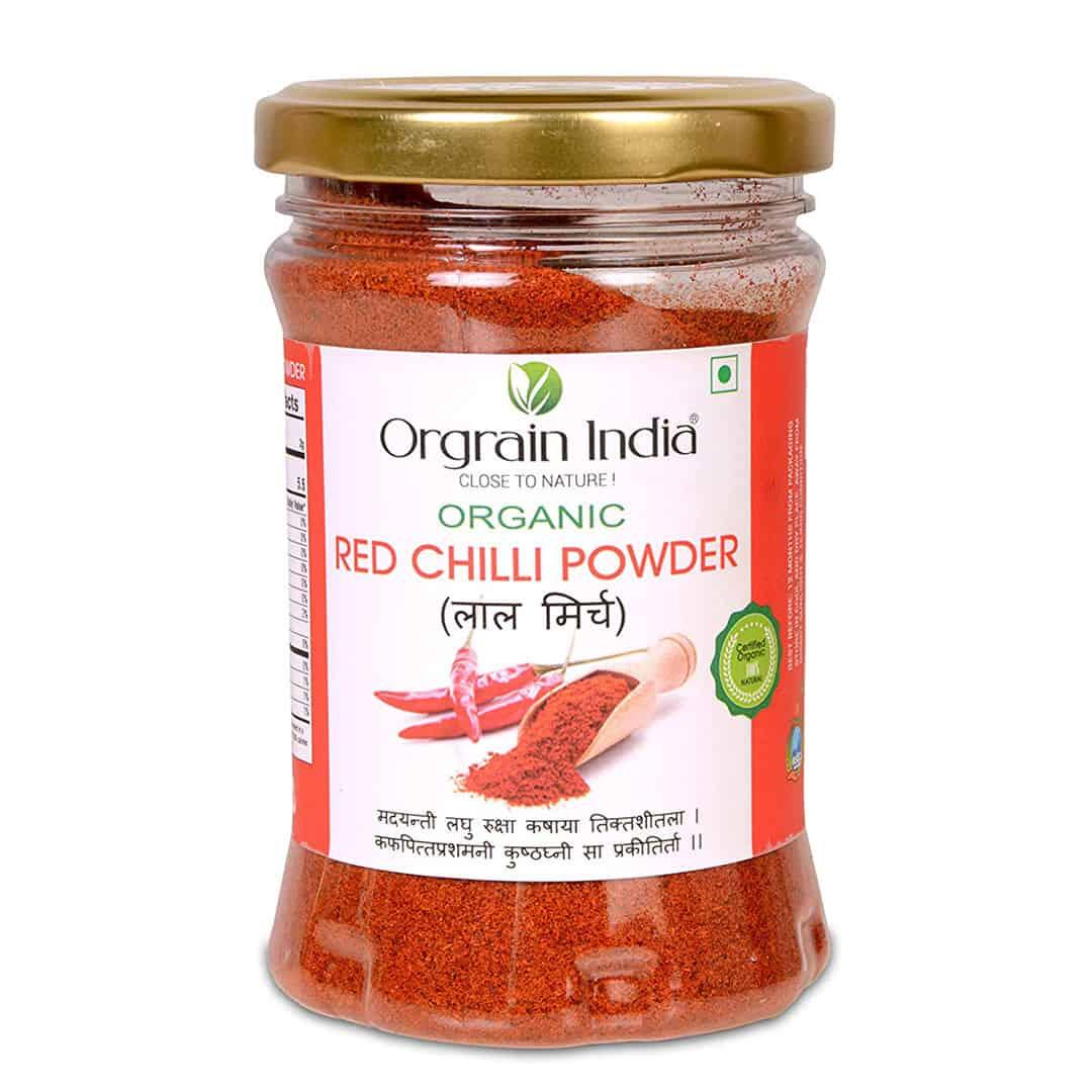 Orgrain India Organic Red Chilli Powder, 125g - Orgrain India